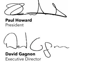 Signatures of Paul Howard and David Gagnon